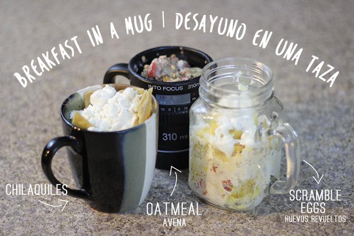 Breakfast in a mug | Desayuno en una taza – DIY