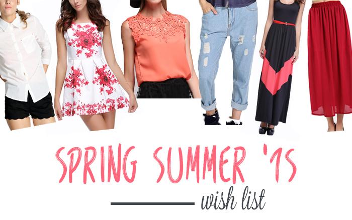 Spring Summer 2015 50dlls wish list