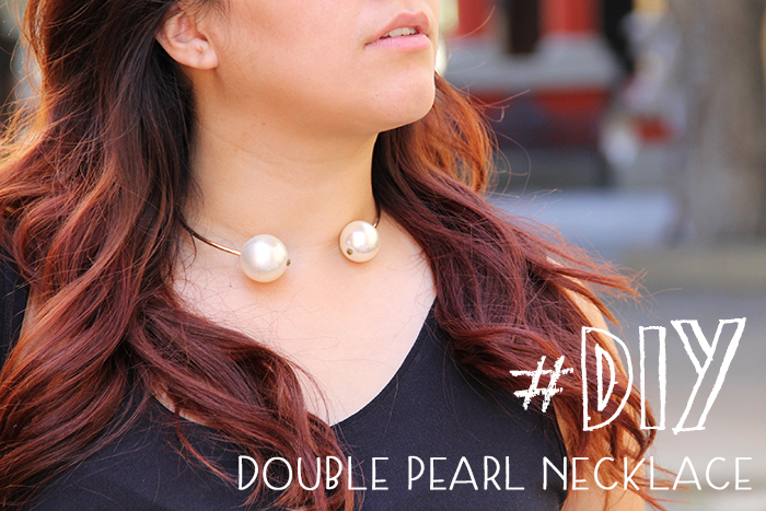 Double pearl necklace   DIY