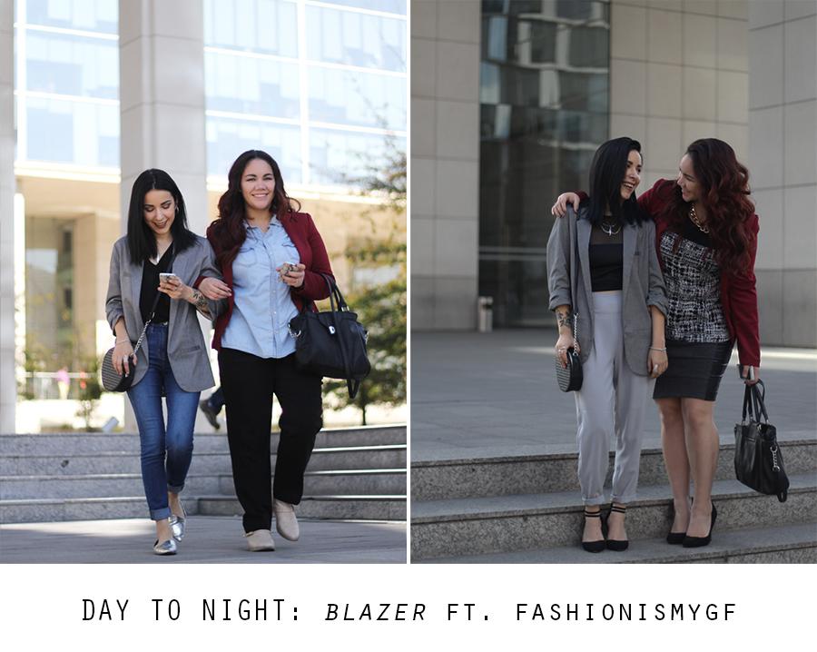 Day to night: Blazer ft. FASHIONISMYGF