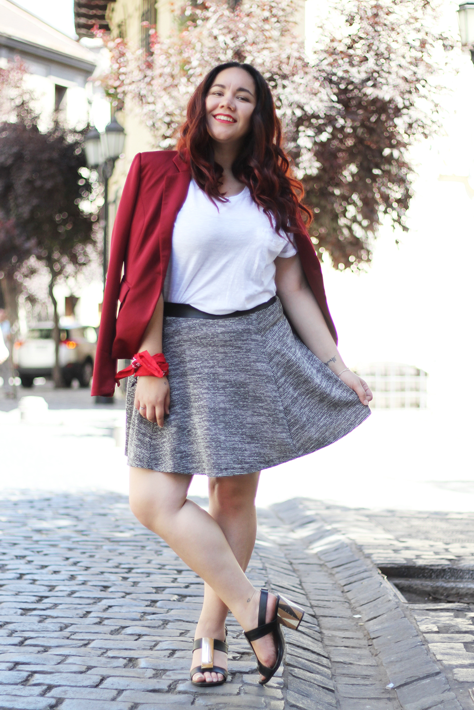 christmas-look-merry-holidays-h&m-dafiti-chile-street-style-summer-red-blazer