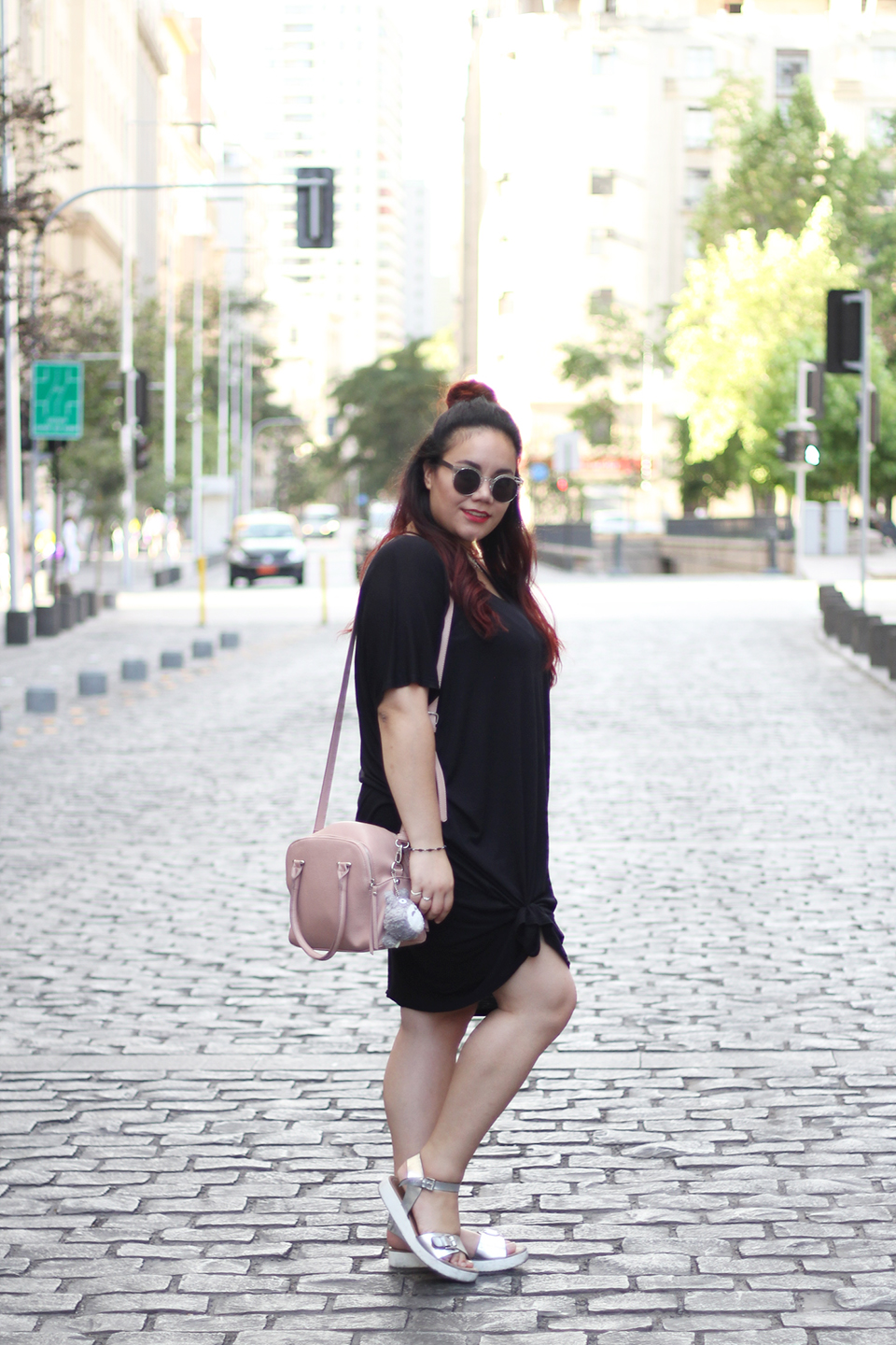 comfy-look-oversized-dress-dafiti-chile-forever-21-mexican-blogger-hm-half-bun-street-style