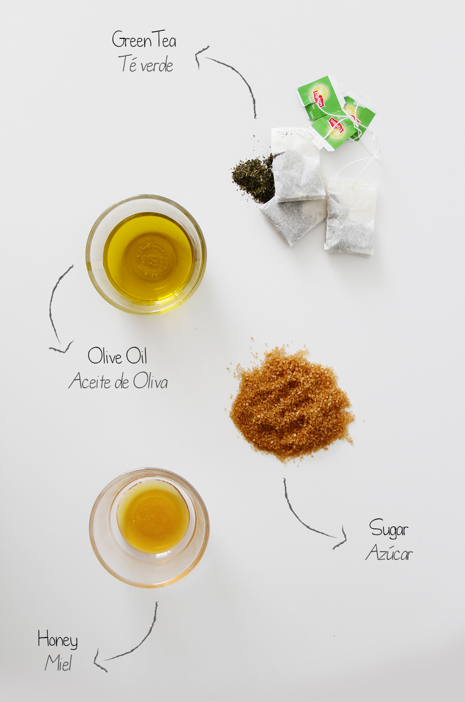 face-scrub-home-made-brown-sugar-green-tea-olive-oil-beauty-skincare-blogger-DIY-exfoliante-casero-ingredientes