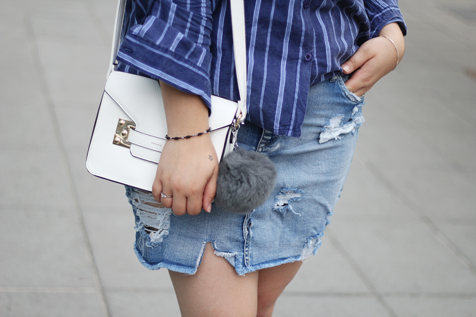 fashion-blogger-denim-skirt-forever21-yoins-blue-hat-lookchic-quay sunglasses-mexican-ripped-prune-white-bag