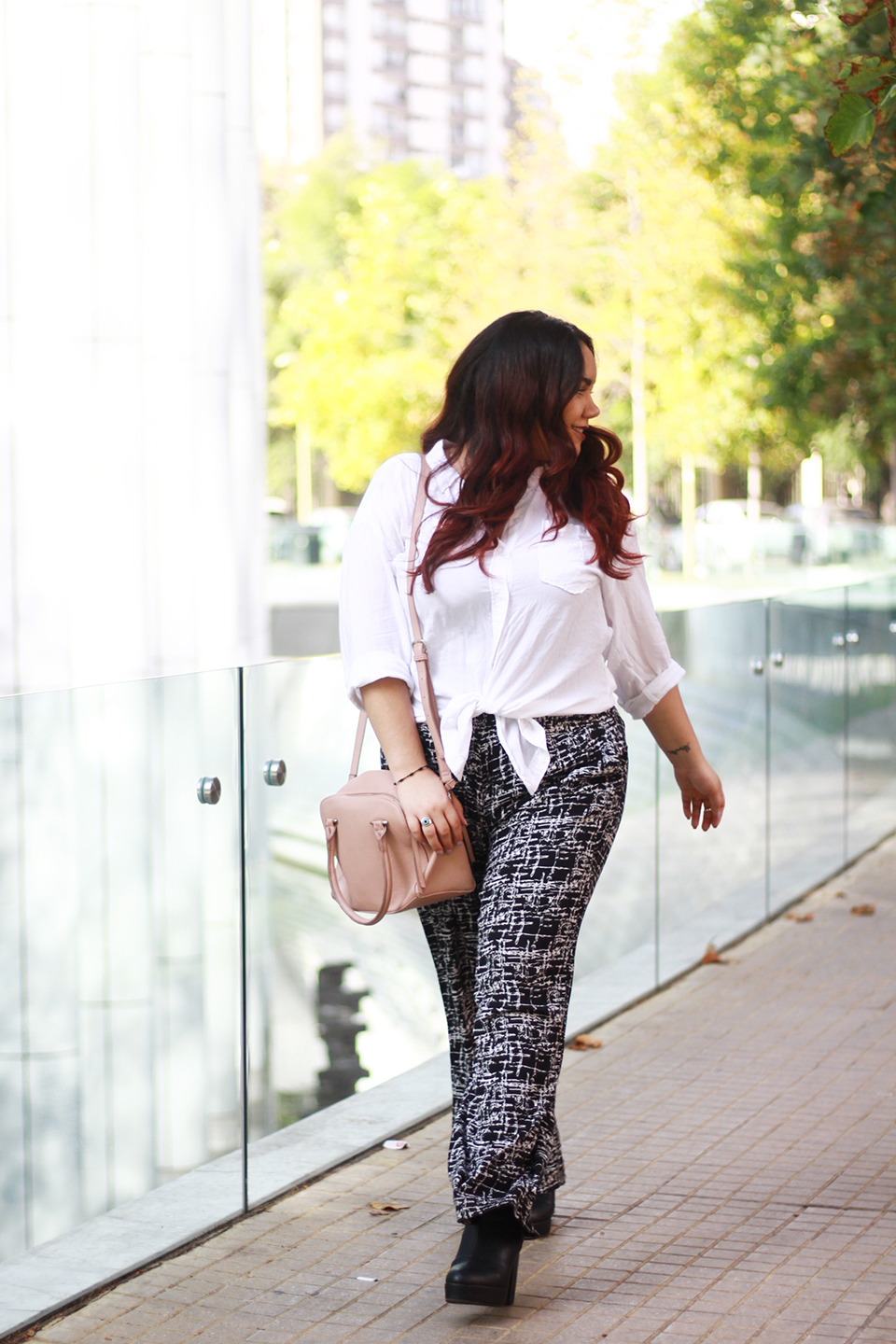 Black and white outfit | Palazzo + white shirt | GOLDEN STROKES