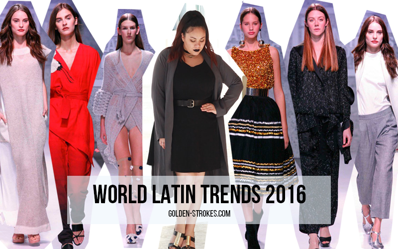 Pasarela Latin Trends + Plus size black dress + Dark lips makeup | Golden Strokes