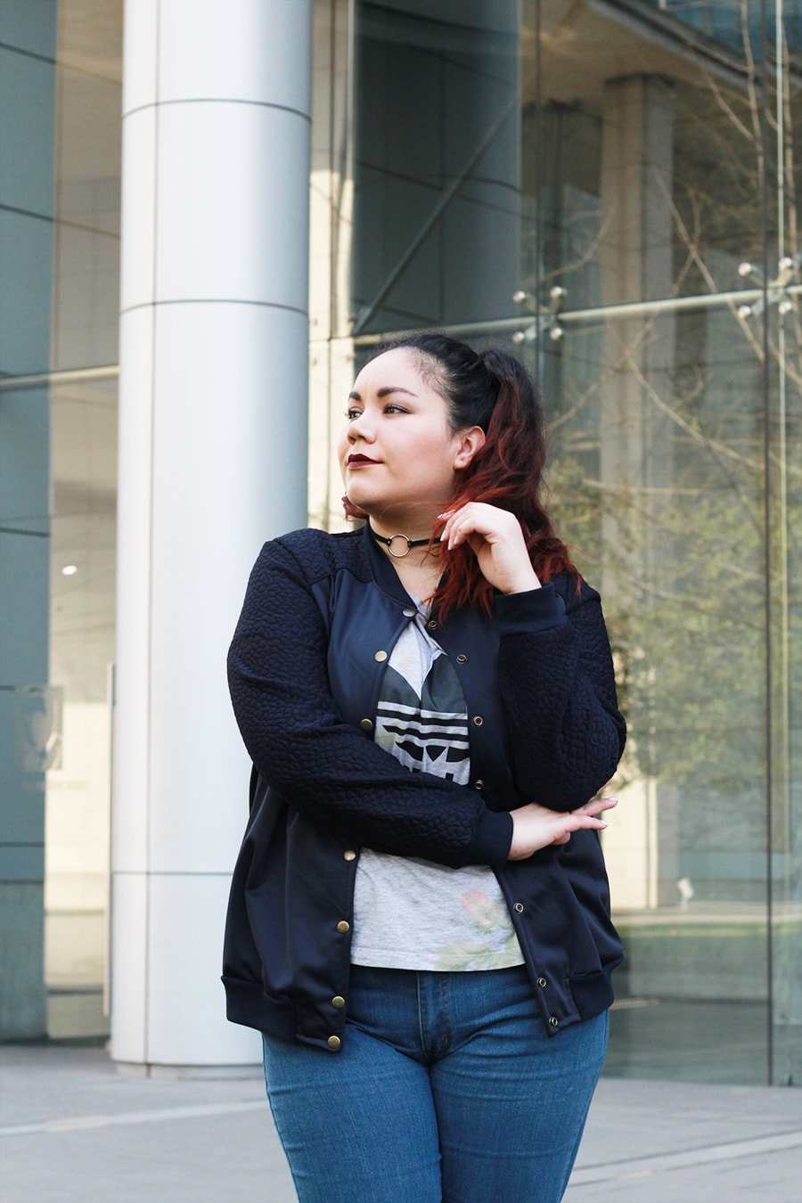 Blogger Méxicana - Bomber jacket for spring | Golden Strokes