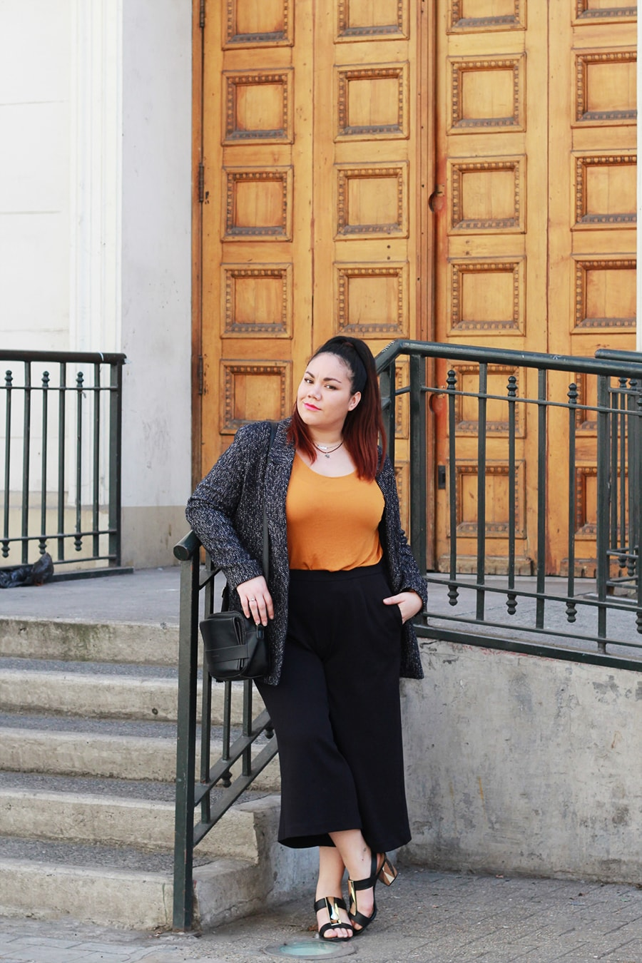 Culottes and mustard top - after office look | Golden Strokes