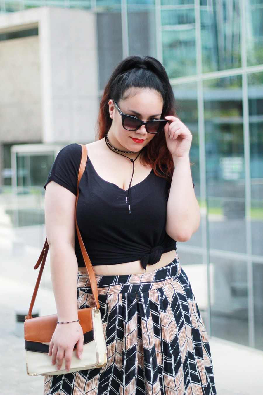 diy crop top and midi skirt plus size fashion | Golden Strokes
