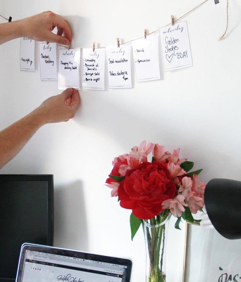 Week planner DIY