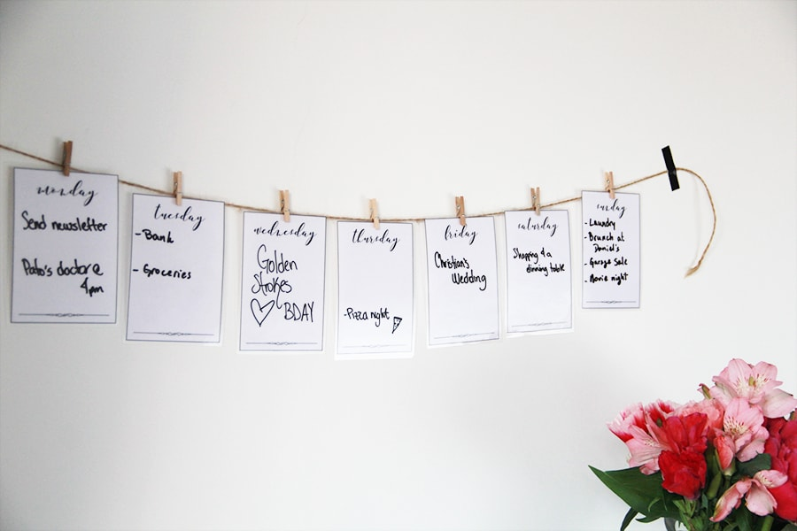 Family week planner DIY - calendar DIY