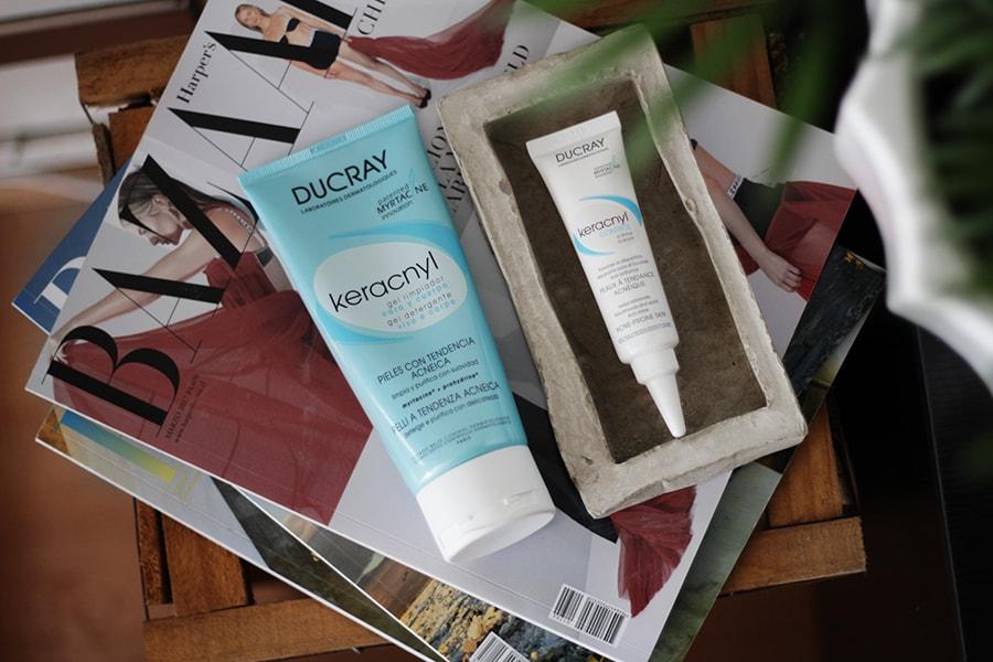 Ducray Keracnyl gel limpiador - Skin care - acne puntos negros granos - cuidado de la piel