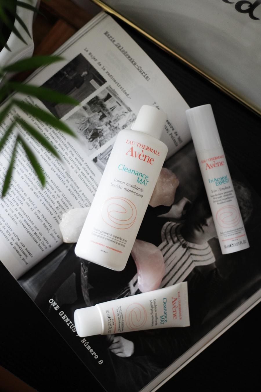 Eau Thermale Avene - Cleanance MAT - TriAcneal Expert - Skin care - acne puntos negros granos - cuidado de la piel