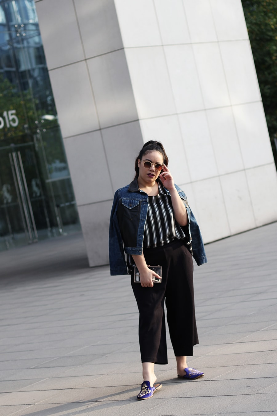 Flat mules and culottes for fall - outfit inspiration - workwear - golden strokes