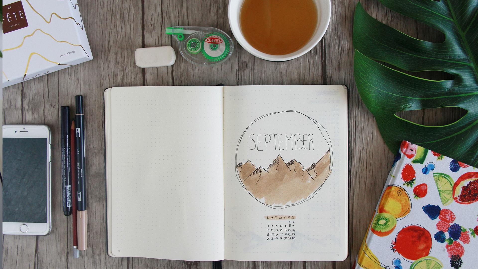 Bullet journal en espanol setup mensual organizate conmigo