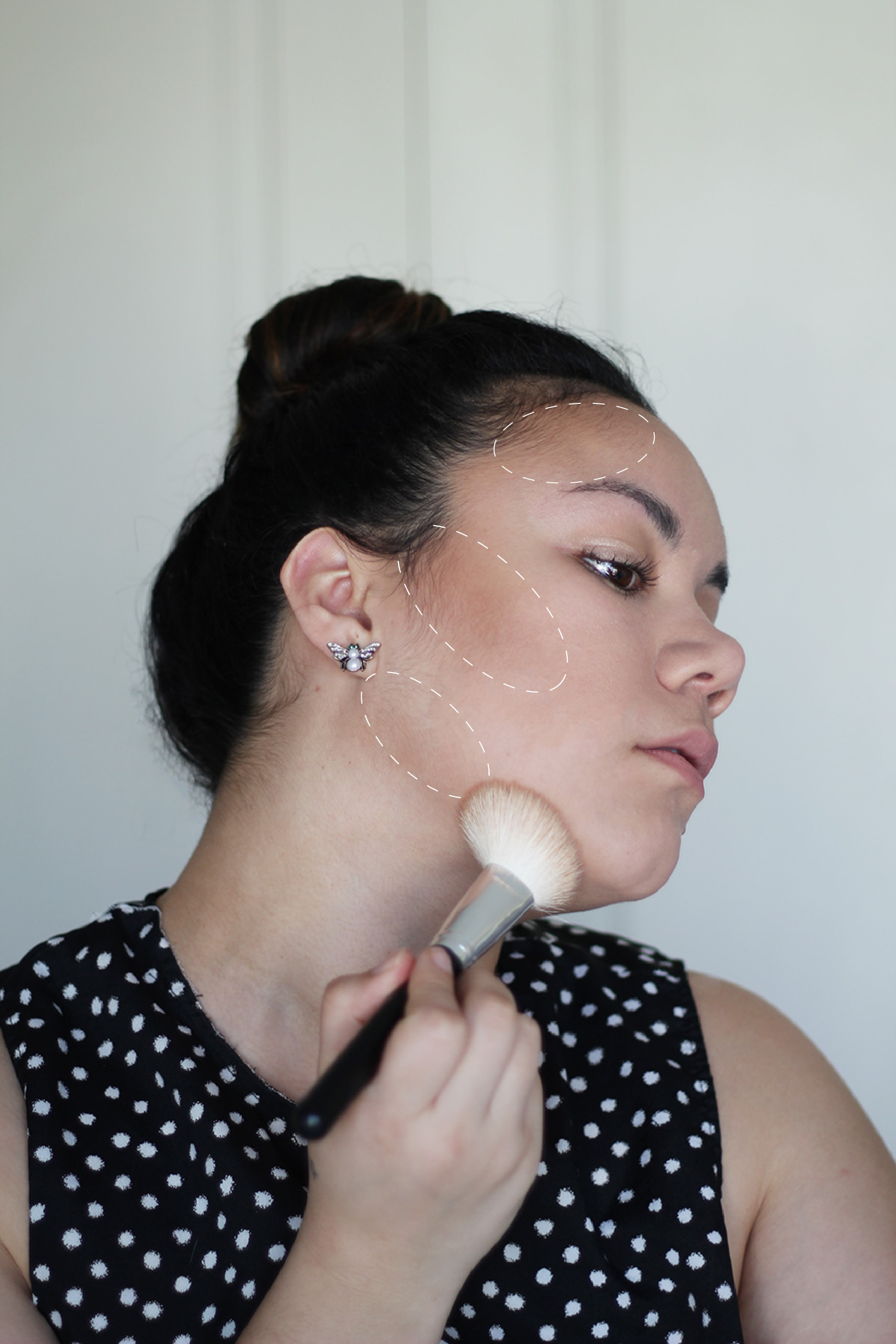 How to contour with powder - easy, quick tutorial | Maquillaje contorno en polvo
