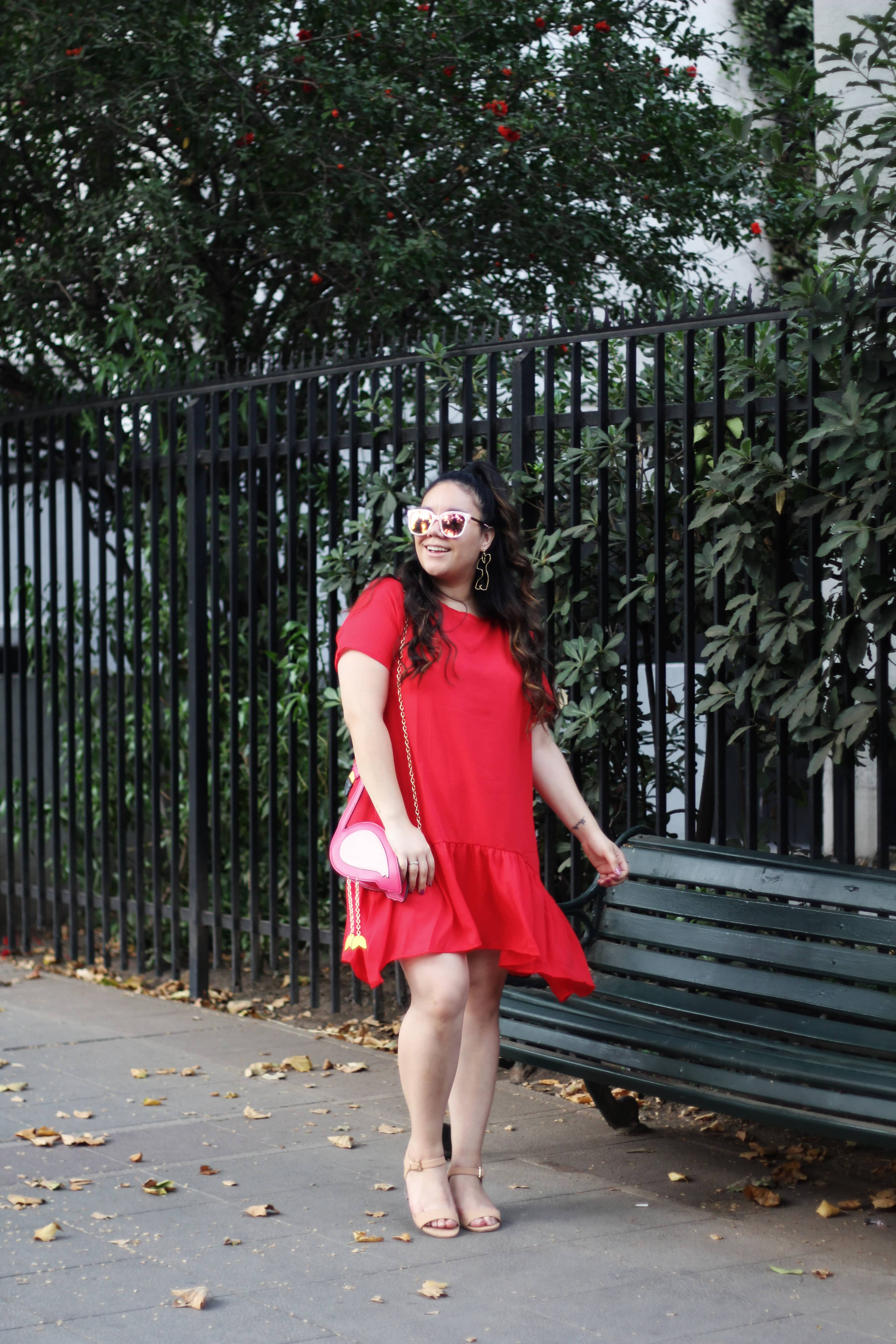 Romwe plus size clothing dress curvy girl red dress