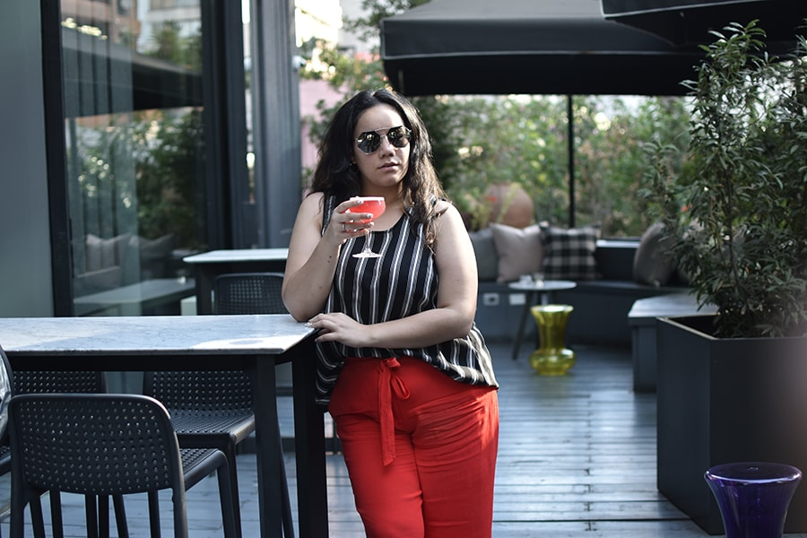 Culotte pants - after office outfit chic casual plus size golden strokes