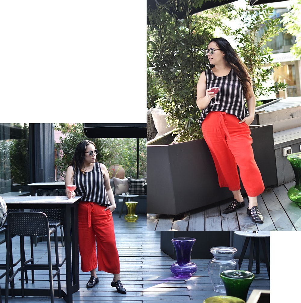 Culotte pants - after office outfit chic casual plus size