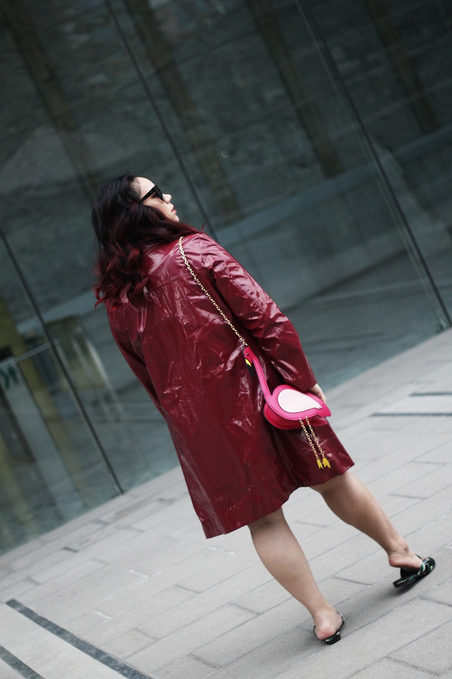 Lady in red - red outfit for autumn - golden strokes - luisa verdee