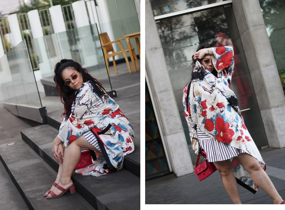 Pattern mixing outfit ideas plus size curvy blogger