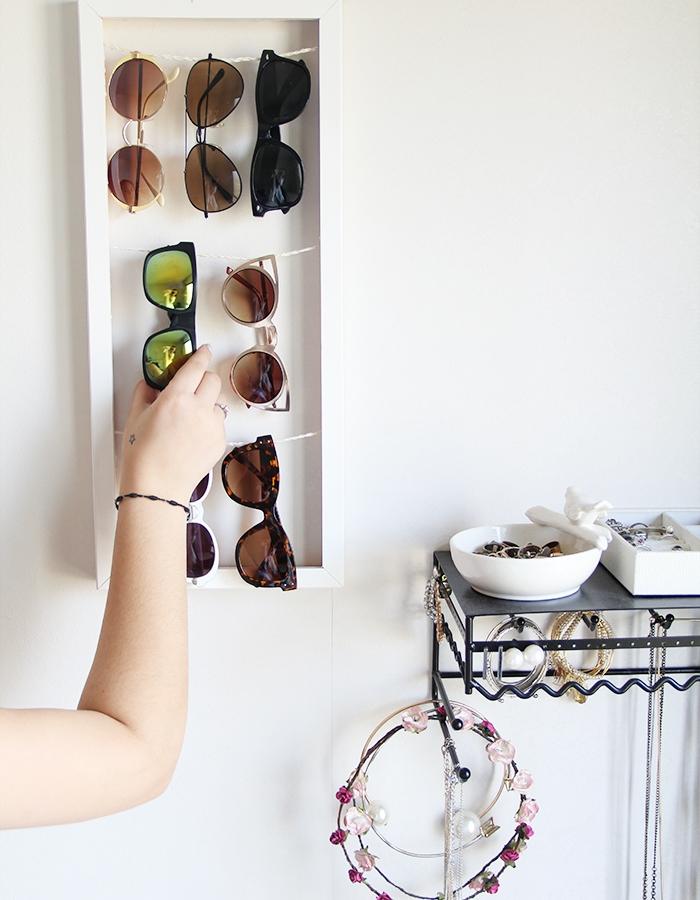 Sunglass holder DIY