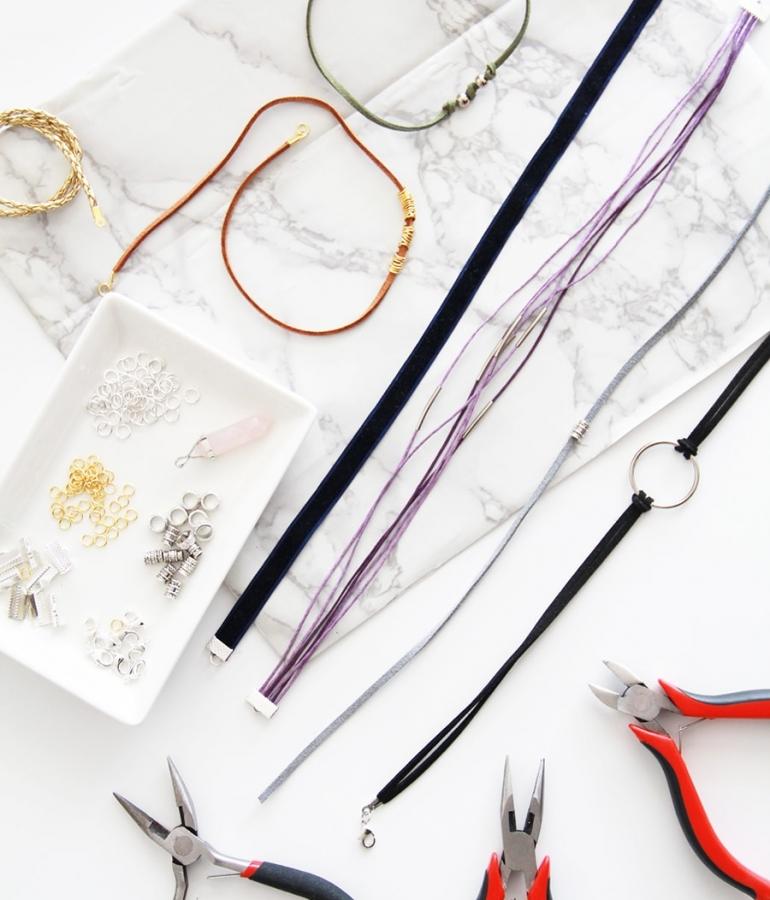 DIY choker necklace – Gargantilla choker