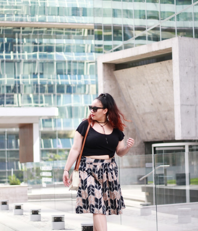 A diy crop top and midi skirt for 30ºC