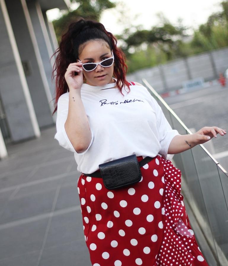 Maxi ruffle polka dots