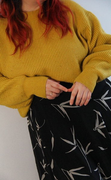 Midi and a sweater